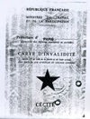 Carte d'invalidité