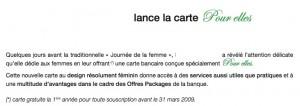 Publicité de la branche marocaine de la dite banque