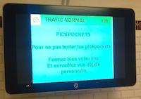 Mise en garde pickpockets de la RATP