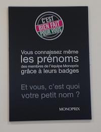 Campagne Monoprix prénoms