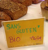 Sans gluten avec traces de gluten
