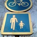 Panneau vélo-piétons