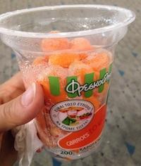 Orange comme du melon ou des carottes