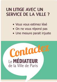 Infographie. Un litige avec un service de la Ville de Paris ? Contactez le médiateur.