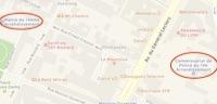 Un extrait de plan du 14e arrondissement