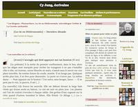 Copie d'écran de la page d'accueil de mon site