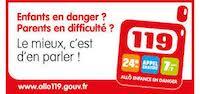 Affiche 119 enfant en danger